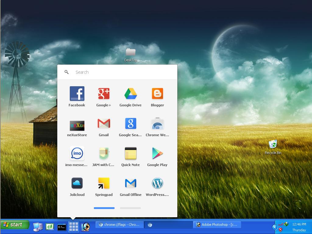 Chrome App Launcher Comes to Windows