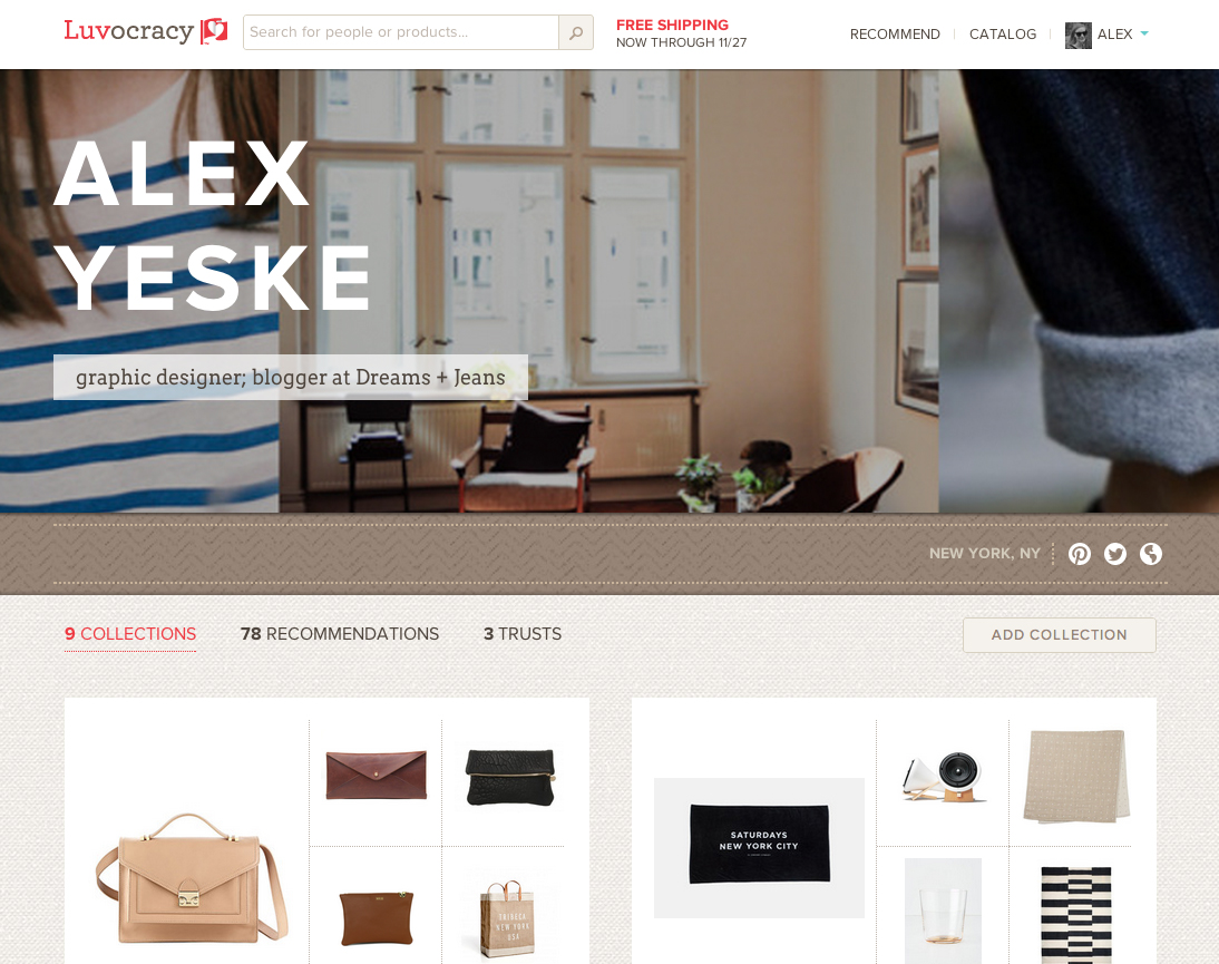 Luvocracy: The Pinterest-like site for Shopaholics