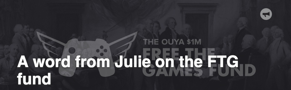 Ouya's Free The Games Program Revised