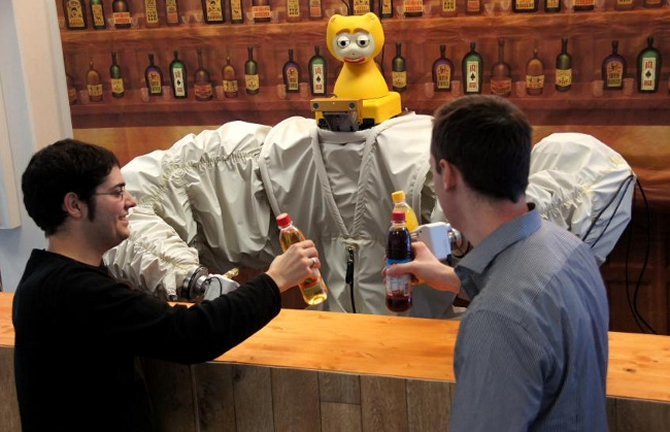 James The Robot Bartender Knows When You Want A Drink