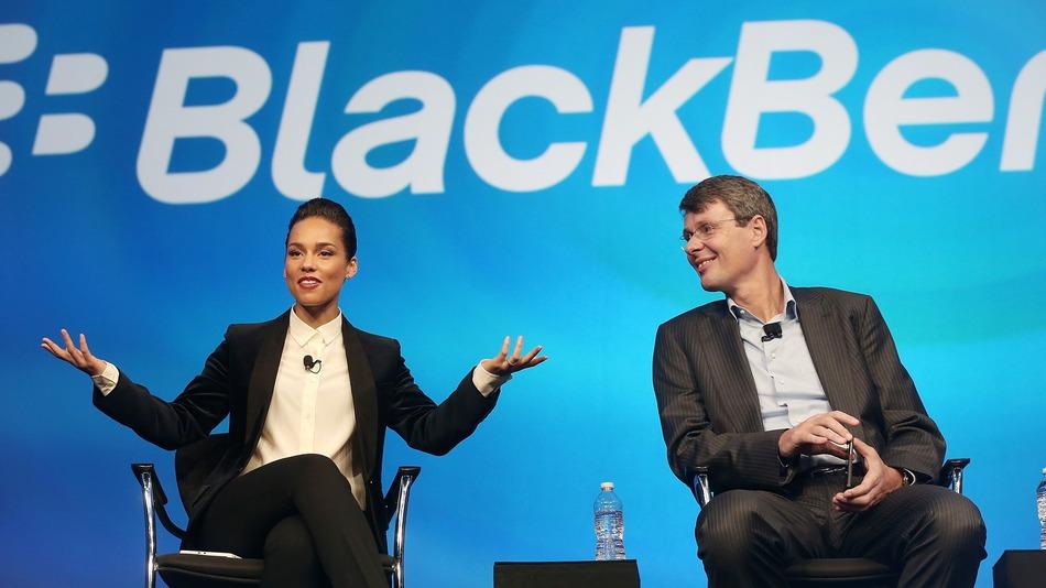 Alicia Keys & BlackBerry Split