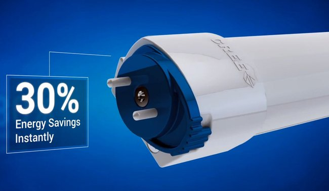 The Cree LED T8 Will Save 30% of Lighting Energy Costs in the Business Sector