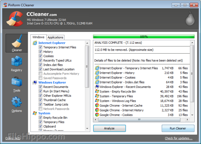 How to Delete Temporary Files Using CCleaner