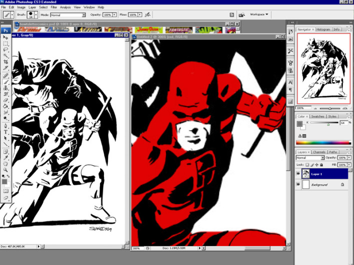 How to Colour Comics in Photoshop