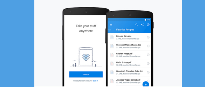 Dropbox Releases Refreshing New Android App