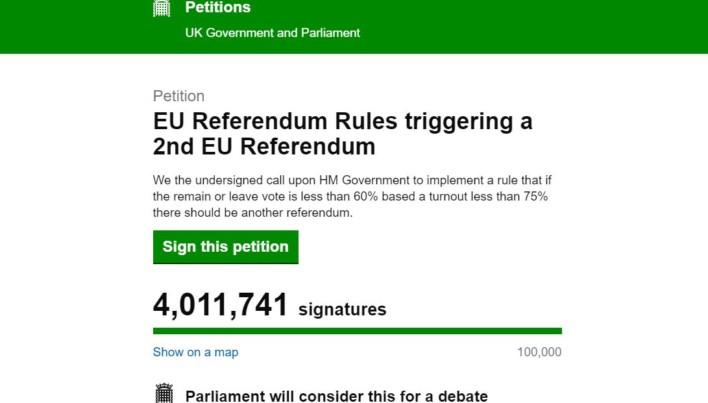 EU Referendum Petition Hijacked By Bots