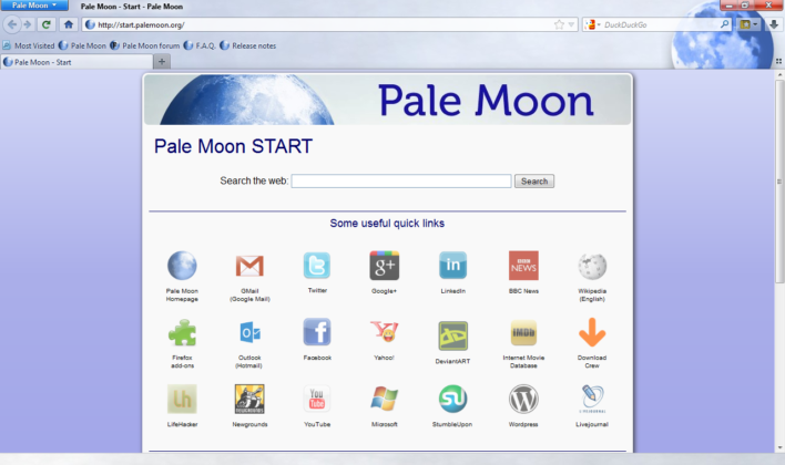 Pale Moon browser review