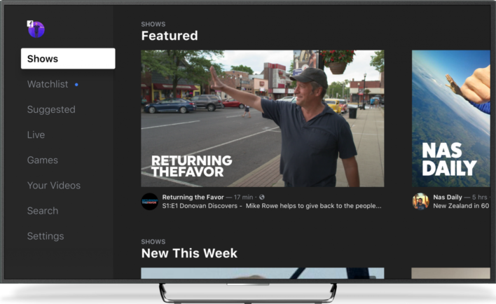 "Facebook Launches ""Watch"" Tab To Compete With YouTube"