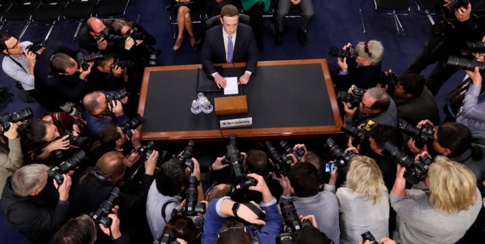 Facebook's chief executive, Mark Zuckerberg, testifies before the US Congress following data harveting scandal.